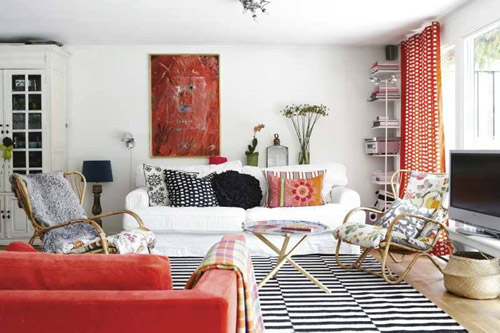 Bohemian Style Interiors Living Rooms And Bedrooms: Ethnic Home Decor, White Color Walls