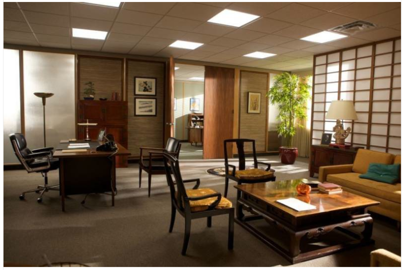 Mad men amc 39 s mad men sterling cooper 39 s office for Asian office decor