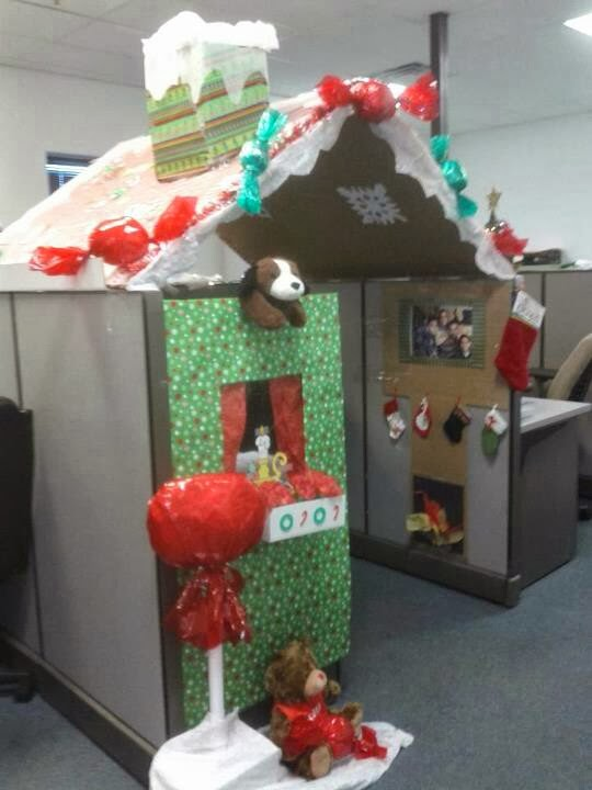 Decorate office cubicles holiday decor
