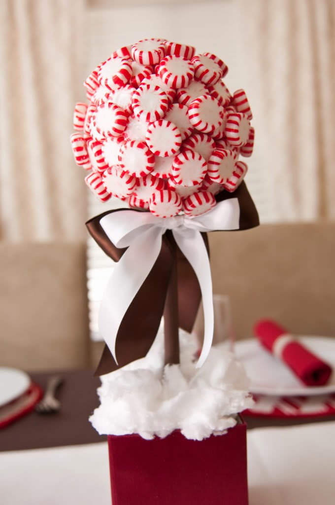 Holiday decor decorating with peppermint candy