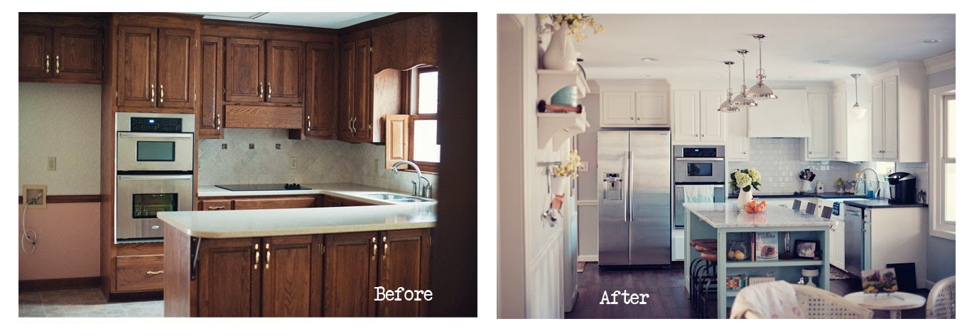 Kitchen remodels before and after for Before and after pictures of remodeled kitchens