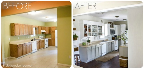 Kitchen remodels before and after for Kitchen remodel before after