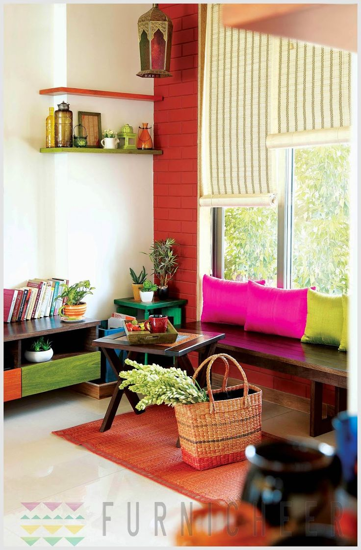 Colorful indian homes for Indian house decor